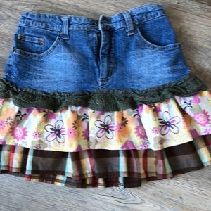 3/$25 - Girls Request ruffled skirt